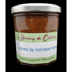 Chutney de tomates vertes produit artisanalement grande qualité
