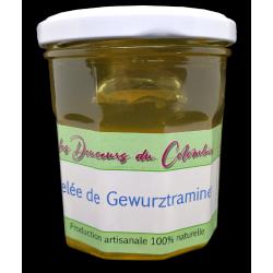 Gelée de Gewurztraminer, vin blanc d'Alsace. Qualité pour accompagner foie gras