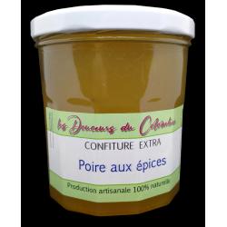 Confiture artisanale de poire aux épices de qualité