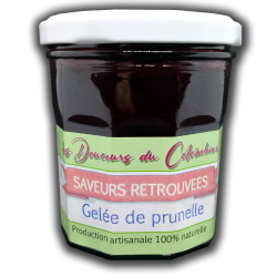 Gelée de prunelle sauvage récoltée en Normandie. Fabrication artisanale