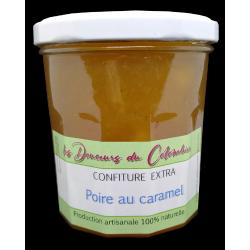 Confiture de poire au caramel. Fabrication artisanale de qualité