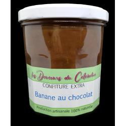 Confiture de banane au chocolat. Fabrication artisanale de qualité